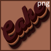 Chocolate cake text effects