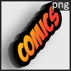 Cartoon comics logo