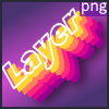 3d gradient layer text effect