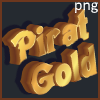 Gold pirate inscription font effect