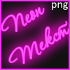 Neon png text effect