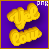 Cool text 3d yellow effect